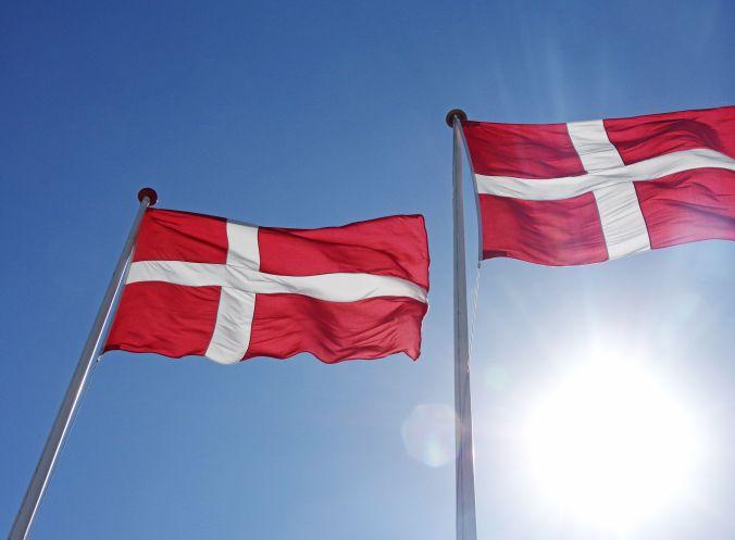 """Die dänische Nationalflagge, genannt """"Dannebrog"""" (Flagge der Dänen) gibt es schon seit mindestens 700 Jahren. Sie zählt zu den ältesten der Welt."""